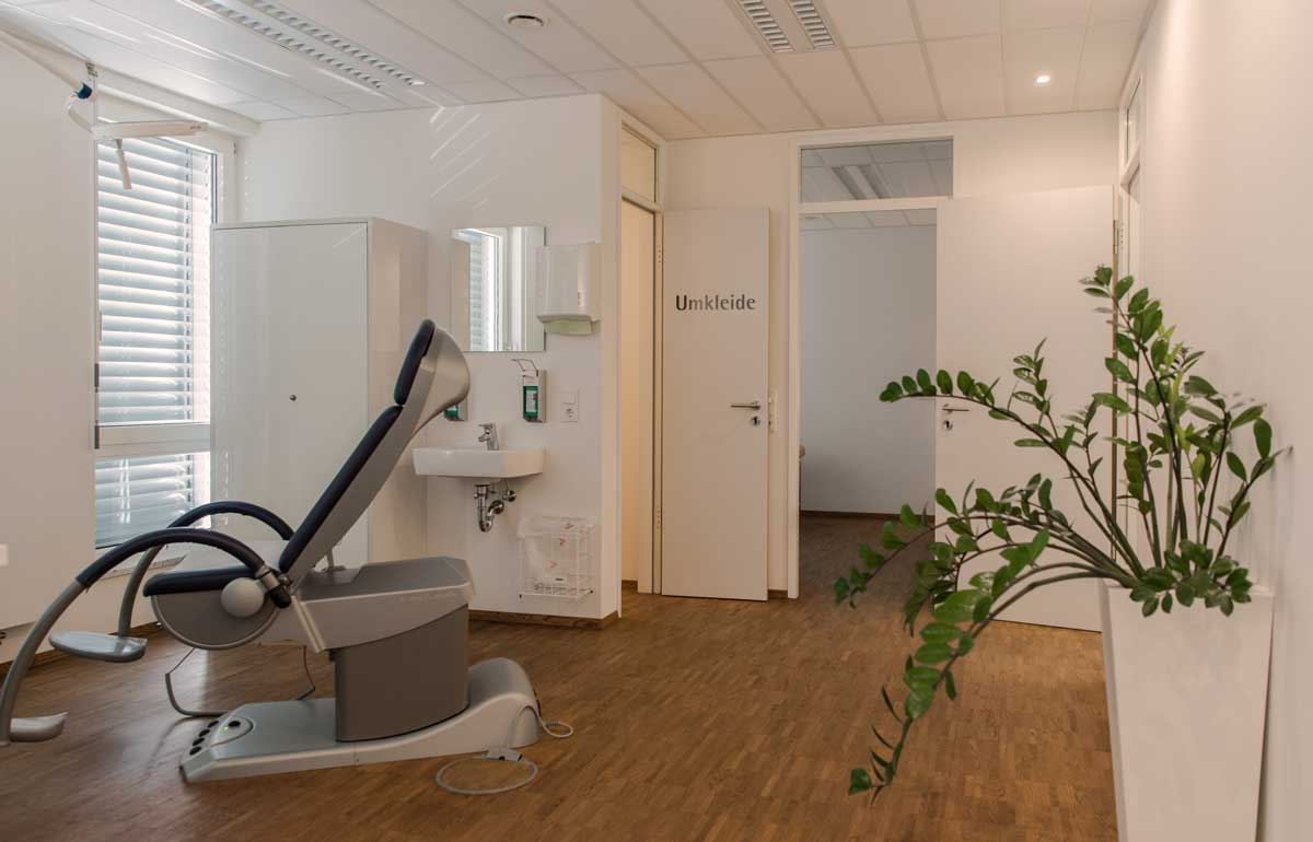 Behandlungsbereich Dr. Dorothea Frommlet